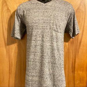 Broken Threads Men Gray V-Neck T-shirt